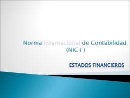 Norma Internacional de Contabilidad I (NIC I )