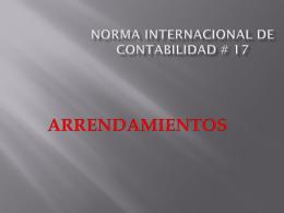 Norma internacional de contabilidad # 17
