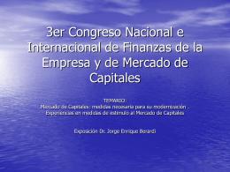3er Congreso Nacional e Internacional de Finanzas de la