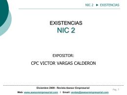 NORMA INTERNACIONAL DE CONTABILIDAD NIC 2