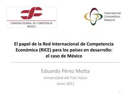 Panorama de la Red Internacional de Competencia …