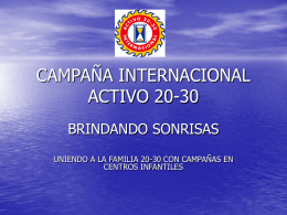 CAMPANA INTERNACIONAL ACTIVO 20-30