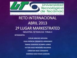 RETO INTERNACIONAL NOVIEMBRE 2012