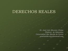 DERECHOS REALES - Facultad de Derecho