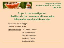 Programa de Vigilancia Nutricional