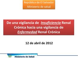 Vigilancia de ERC El Salvador 2011