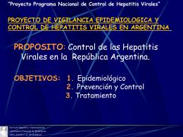 PROYECTO DE VIGILANCIA EPIDEMILOGICA Y CONTROL …