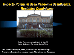 Plan Republica Dominicana Para Enfrentar la Pandemia de