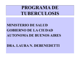 EPIDEMIOLOGIA EN TUBERCULOSIS