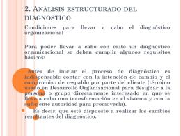 Diagnostico de las Organizaciones