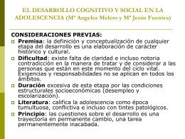 EL DESARROLLO COGNITIVO Y SOCIAL EN LA …