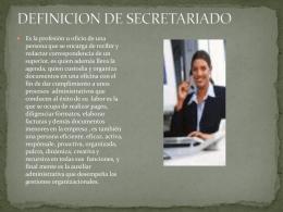 DEFINICION DE SECRETARIADO
