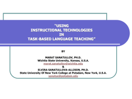 USING INSTRUCTIONAL TECHNOLOGIES IN TASK