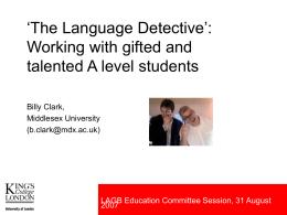 The Language Detective: