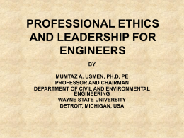 PROFESSION - National Society of Professional Engineers