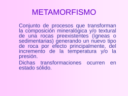METAMORFISMO - TiemposdeCiencia