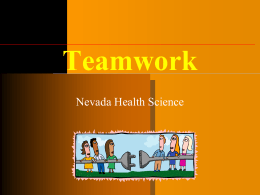 Teamwork - Nevada HOSA