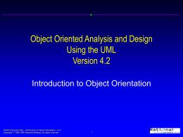 Object Oriented Analysis and Design Using the UML …