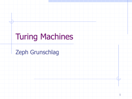 Turing Machines - Columbia University