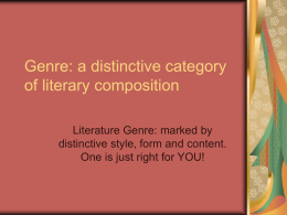 Types of Genre