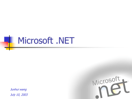 Microsoft .NET - Lamar University