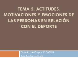 TEMA 4: ACTITUDES, MOTIVACIONES Y EMOCIONES DE …