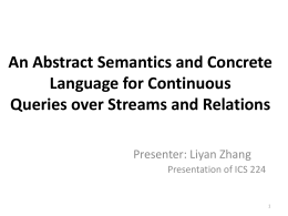 An Abstract Semantics and Concrete Language for …