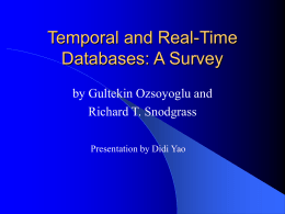 Temporal Data Models