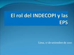 El rol del INDECOPI y las EPS