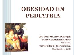 OBESIDAD EN PEDIATRIA