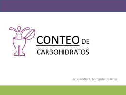 TALLER DE CONTEO DE CARBOHIDRATOS