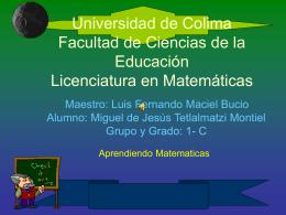 Universidad de Colima Facultad de Ciencias de la …