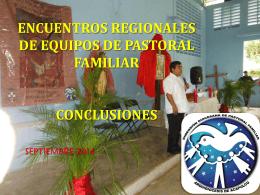 ENCUENTROS REGIONALES DE EQUIPOS DE PASTORAL …