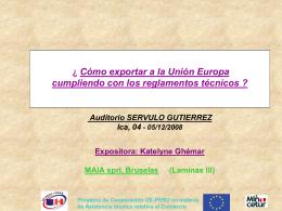 Diapositive 1 - MINCETUR > Inicio