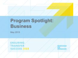 Program Spotlight:Business