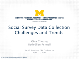 Some Challenges in the Social Survey Research