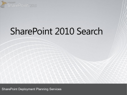 SharePoint 2010 - Search presentation