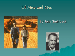 Of Mice and Men - Powerpoint Presentations for teachers