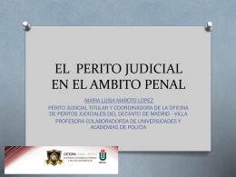 LA FIGURA DEL PERITO JUDICIAL EN LA LEGISLACION …