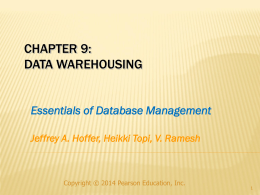 Data Warehousing - California State University, Bakersfield