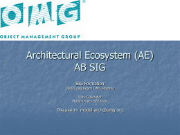 OMG Architectural Ecosystem AB SIG