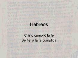 Hebreos - Lic. Jonathan Latham