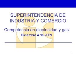 SUPERINTENDENCIA DE INDUSTRIA Y COMERCIO …
