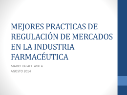 REGULACION DE MERCADOS EL CASO DE LA INDUSTRIA …