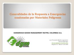 Manejo de Emergencias por Materiales Peligrosos en la
