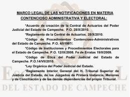 Marco legal de las notificaciones en materia contencioso