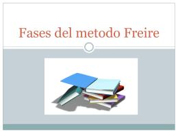 Fases del metodo Freire