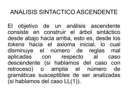 ANALISIS SINTACTICO ASCENDENTE