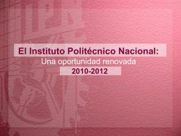 Programa de Trabajo 2010-2012