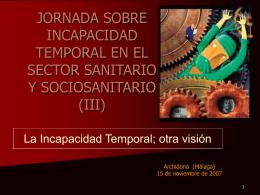 JORNADA SOBRE INCAPACIDAD TEMPORAL EN EL …